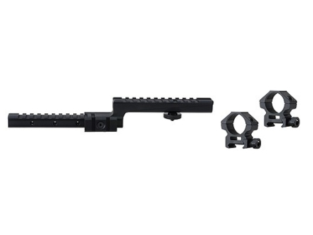 "UTG Tactical Weaver-Style Carry Handle Mount with 1"" Weaver-Style Rings AR-15 Matte"