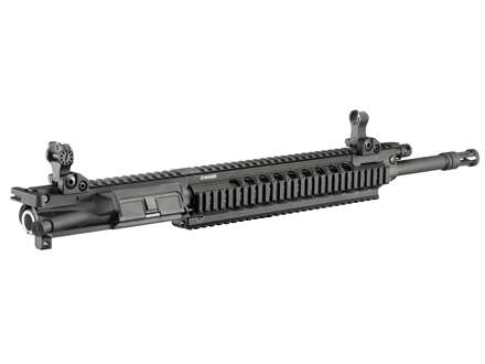 Ruger SR-556FB AR-15 Flat-Top Gas Piston Upper Assembly 5.56x45mm NATO 1 in 9&quot; Twist 16&quot; Barrel with Free Float Handguard, Flip-Up Sights, Flash Hider, 30-Round Magazine