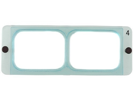 Donegan Optical OptiVISOR Magnifying Headband Visor Replacement Lens Plate 2X at 10&quot;