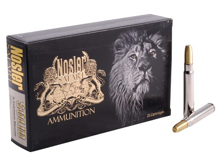 Nosler Safari Ammunition 9.3x62mm Mauser 286 Grain Solid Box of 20