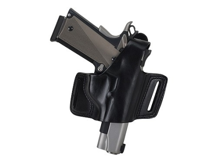 Bianchi 5 Black Widow Holster Right Hand CZ 75, S&W 411, 909, 910, 915, 3904, 4006, 5904 Leather Black