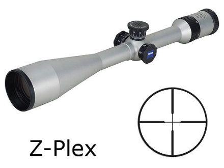 Zeiss MC Conquest Rifle Scope 6.5-20x 50mm Side Focus Target Turrets Z-Plex Reticle Silver