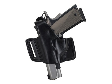 Bianchi 5 Black Widow Holster Left Hand S&amp;W 1006, 1066, 1076, 4506, 4516, 4566, 4576 Leather Black