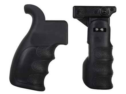 TacStar Tactical Pistol Grip &amp; Folding Vertical Forend Grip Set AR-15 Synthetic Black