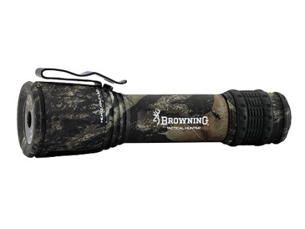 Browning Tactical Hunter Flashlight White LED  and 3 Color Filters Aluminum Mossy Oak Break-Up Camo