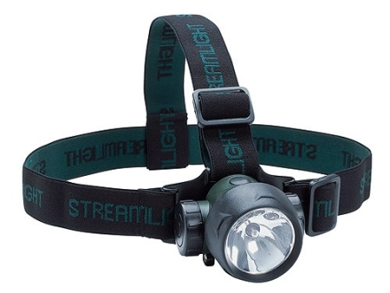 Streamlight Trident Headlamp Xenon Bulb with 2 White and 1 Green LEDs and Batteries (3 AAA Alkaline) Polymer Green