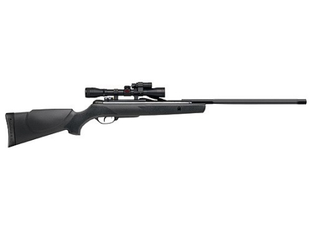 Gamo Varmint Hunter Air Rifle 177 Caliber Black Synthetic Stock Blue Barrel with Gamo Airgun Scope 4x 32mm Matte and Flashlight and Laser Sight