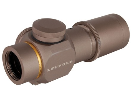 Leupold Prismatic Hunting Rifle Scope 30mm Tube 1x 14mm Illuminated Double Circle Dot Reticle Dark Earth