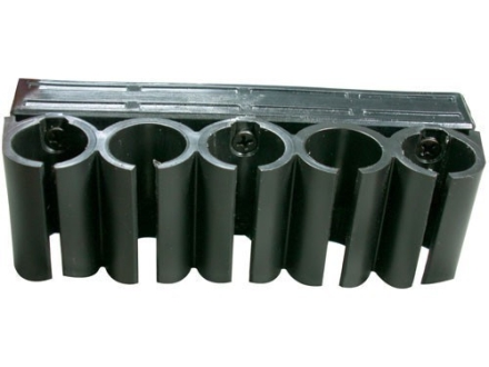 Advanced Technology Buttstock Shotshell Ammunition Carrier for ATI Shotforce Collapsible Stocks 5-Round 12 Gauge Polymer Black