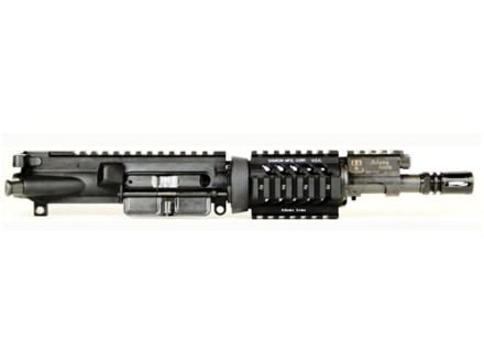 Adams Arms AR-15 Pistol A3 PDW Base Gas Piston Upper Assembly 5.56x45mm NATO 1 in 7&quot; Twist 7.5&quot; Barrel Melonite Finish with 4&quot; Quad Rail Handguard, Flash Hider