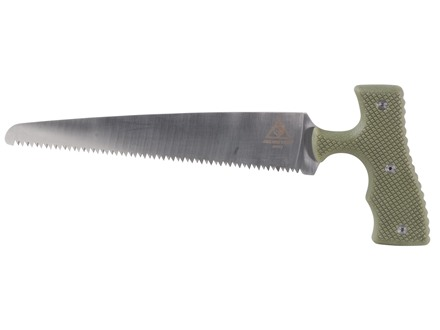 Lone Wolf Bone Saw Green Polymer Handle