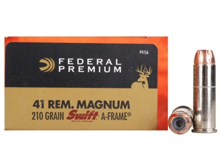 Federal Premium Vital-Shok Ammunition 41 Remington Magnum 210 Grain Swift A-Frame Box of 20
