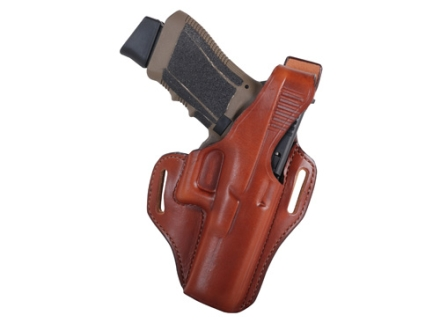 Bianchi 56 Serpent Outside the Waistband Holster Right Hand Glock 17, 22, 31 Leather Tan