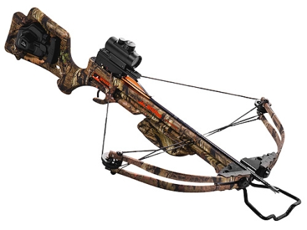 Wicked Ridge by TenPoint Invader Crossbow Package with Ridge-Dot Red Dot Sight and ACUdraw 52 Mossy Oak Break-Up Infinity Camo