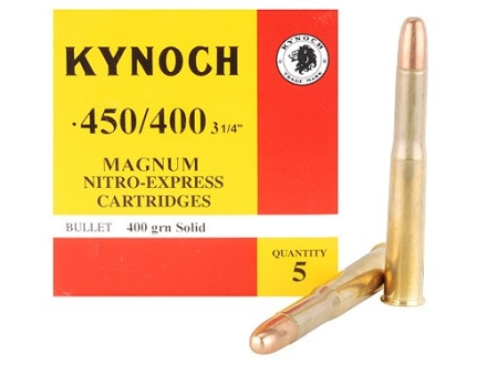 Kynoch Ammunition 450-400 Nitro Express 3-1/4&quot; (408 Diameter) 400 Grain Woodleigh Weldcore Solid Box of 5
