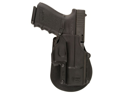 Fobus Paddle Holster Right Hand Glock 17, 19, 22, 23, 31, 32, 34, 35 Polymer Black