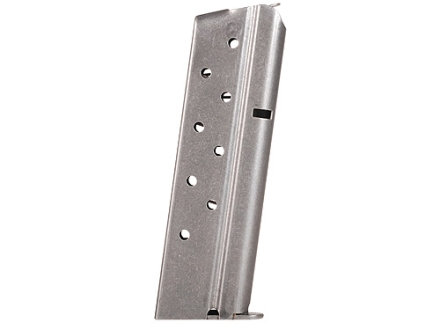 Colt Magazine 1911 Government, Commander 38 Super 9-Round Bright Stainless Steel
