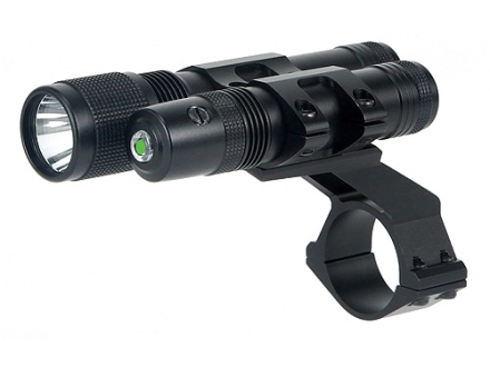 BSA Stealth Tactical Green Laser Sight and Flashlight Kit with Rimfire, Weaver-Style and 1&quot; Scope Ring Mount Matte