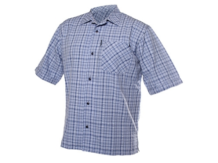 BlackHawk 1700 Flat Weave Plaid Shirt Short Sleeve Synthetic Blend