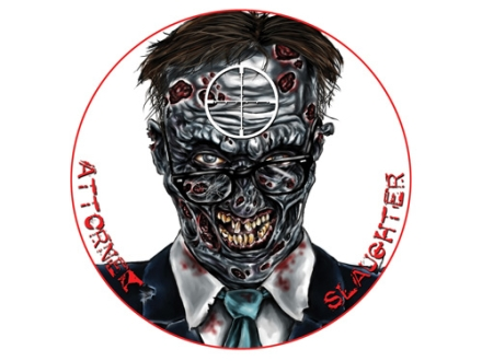 "Lyman Zombie Dot Attorney Slaughter Target 8"" Self-Adhesive Package of 10"