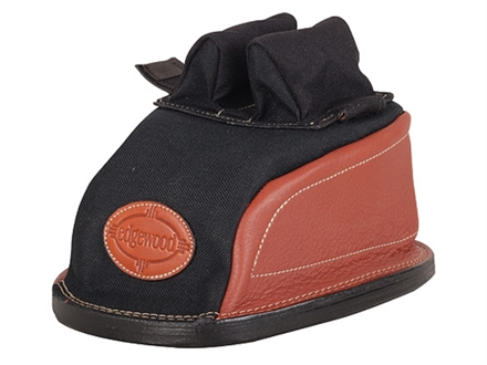 Edgewood Original Rear Shooting Rest Bag Tall with Regular Ears and Wide Stitch Width Leather and Nylon Black Unfilled