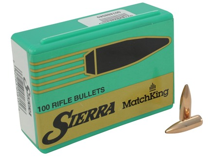 Sierra MatchKing Bullets 6.8mm Remington SPC (277 Diameter) 115 Grain Hollow Point Boat Tail Box of 100