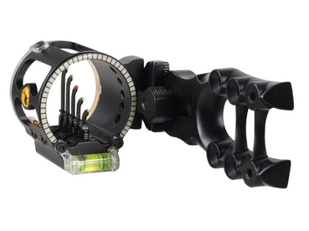 Trophy Ridge Alpha V5 5-Pin Bow Sight .019&quot; Pin Diameter Right Hand Aluminum Black