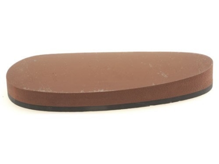 "Galazan Recoil Pad Prefit Thin Solid 5-1/2"" x 1-7/8"" x 3/4"" Rubber Brown"