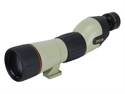 Nikon Fieldscope ED Spotting Scope 20-60x 60mm Straight Body Armored Green