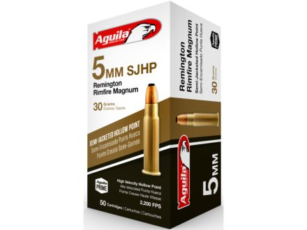 Centurion Ammunition 5mm Remington Magnum 30 Grain Jacketed Hollow Point Box of 500 (10 Boxes of 50)