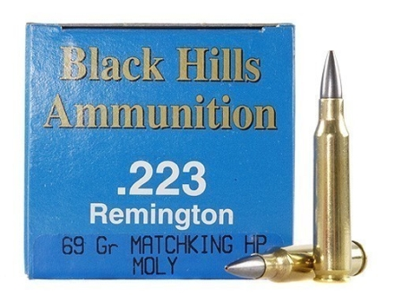 Black Hills Remanufactured Ammunition 223 Remington 69 Grain Sierra MatchKing Hollow Point Boat Tail Moly Box of 50