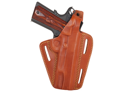"Gould & Goodrich B803 Belt Holster Right Hand S&W L-Frame, Ruger GP100, SP101 3""-4"" Barrels Leather Chestnut Brown"
