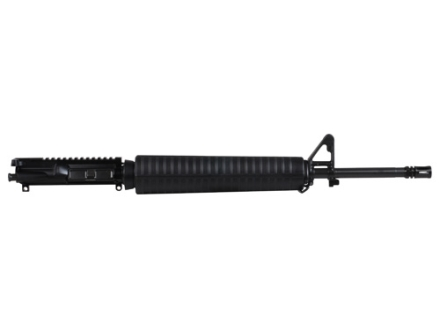 "Del-Ton AR-15 A3 Flat-Top Upper Assembly 5.56x45mm NATO 1 in 9"" Twist 20"" Government Contour Barrel Chrome Moly Matte with A2 Handguard, Flash Hider"