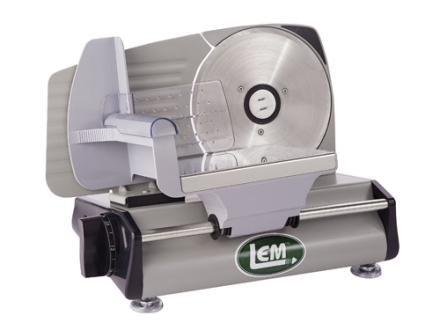 "LEM 7-1/2"" Electric Meat Slicer Stainless Steel"