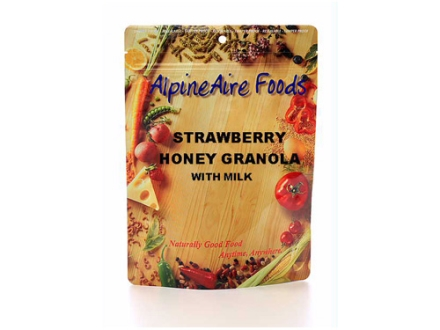 AlpineAire Strawberry Honey Granola with Milk Freeze Dried Meal 6.5 oz