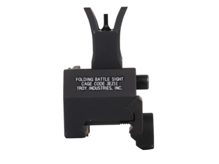 Troy Industries Front Flip-Up Battle Sight M4-Style AR-15 Gas Block Height Aluminum Black
