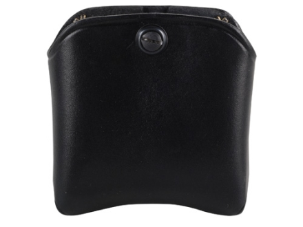 El Paso Saddlery Double Magazine Pouch Double Stack 9/40 Magazine Leather Black