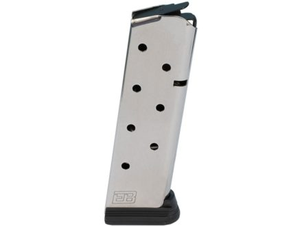 Ed Brown 8-Pack Magazine with Base Pad 1911 Government, Commander 45 ACP 8-Round Stainless Steel