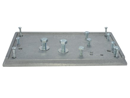 RCBS Accessory Base Plate 2 for Trimmer, Powder Measure Stand, Priming Tool, Partner Press and Rock Chucker Press Mounting