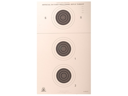 NRA Official Smallbore Rifle Target A-23/3 50-Yard Paper Package of 100
