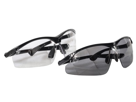 HySkore Bi-Focal Safety Glasses Set of One Clear and One Mirror Anti-Fog Lense Polymer Black