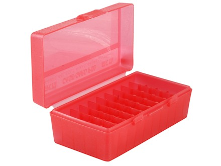 MTM Flip-Top Ammo Box 41 Remington Magnum, 44 Remington Magnum, 45 Colt (Long Colt) 50-Round Plastic