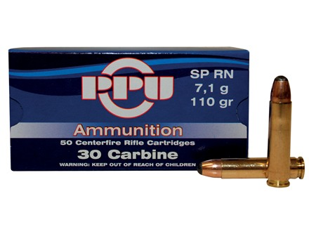 Prvi Partizan Ammunition 30 Carbine 110 Grain Round Nose Soft Point Box of 50