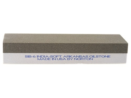 "Norton India Sharpening Stone 2-Sided 6"" x 2"" x 1"" Coarse and Extra-Fine"