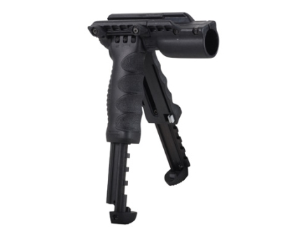 "Mako T-Pod Gen 2 Vertical Forend Grip With Bipod and 1"" Diameter Light Mount Quick Release Mount Polymer Black"