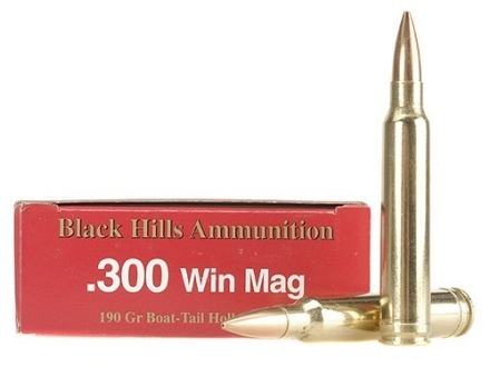 Black Hills Ammunition 300 Winchester Magnum 190 Grain Match Hollow Point Boat Tail Box of 20