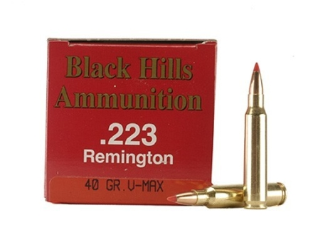 Black Hills Ammunition 223 Remington 40 Grain Hornady V-Max Box of 50