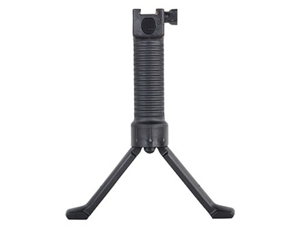 Grip Pod Vertical Grip Bipod With Steel Reinforced Legs Black