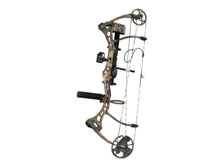 Bear Home Wrecker RTH Compound Bow Package Right Hand 40-50 lb 22&quot;-28&quot; Draw Length Realtree Max-1 Camo