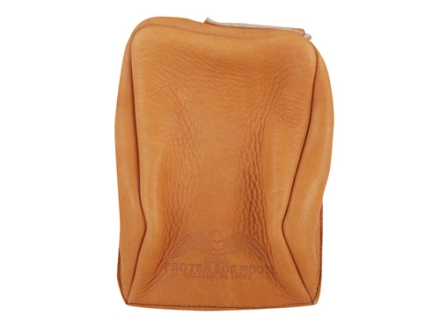 Protektor Standard Rear Shooting Rest Bag Leather Dark Tan Unfilled
